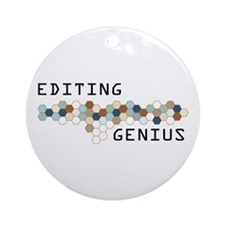 Editing Genius Ornament (Round)