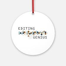 Editing Genius Ornament (Round)