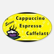 Cappuccino Oval Decal