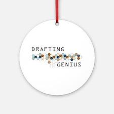 Drafting Genius Ornament (Round)