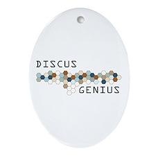 Discus Genius Oval Ornament