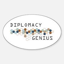 Diplomacy Genius Oval Decal