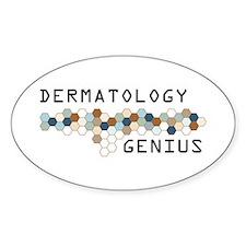 Dermatology Genius Oval Decal