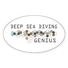 Deep Sea Diving Genius Oval Decal