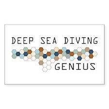 Deep Sea Diving Genius Rectangle Decal