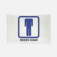Needs Head Rectangle Magnet