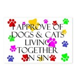 Pets living in sin Postcards (Package of 8)