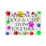Pets living in sin Rectangle Magnet (100 pack)