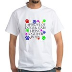 Pets living in sin White T-Shirt