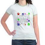 Pets living in sin Jr. Ringer T-Shirt