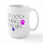 Pets living in sin Large Mug