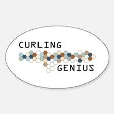 Curling Genius Oval Decal