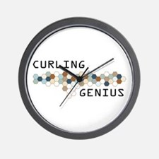 Curling Genius Wall Clock
