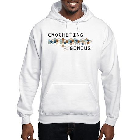 Crocheting Genius Hooded Sweatshirt