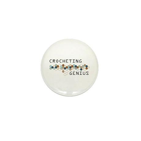 Crocheting Genius Mini Button (100 pack)