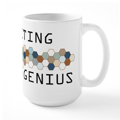 Crocheting Genius Large Mug