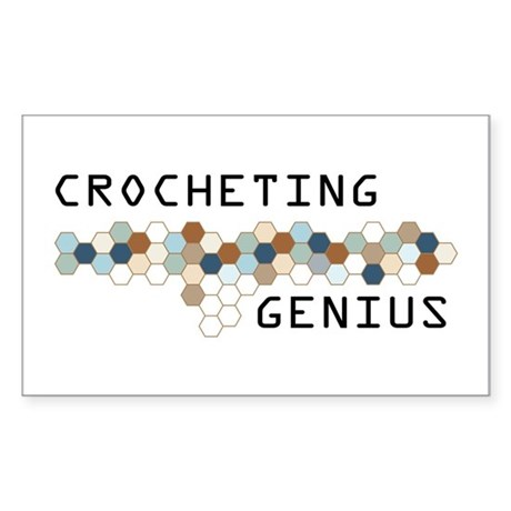Crocheting Genius Rectangle Sticker