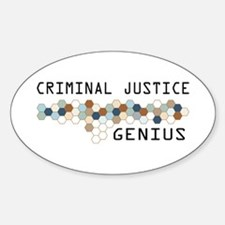 Criminal Justice Genius Oval Decal