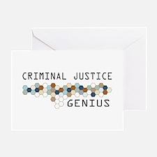 Criminal Justice Genius Greeting Card