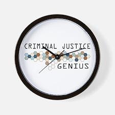 Criminal Justice Genius Wall Clock