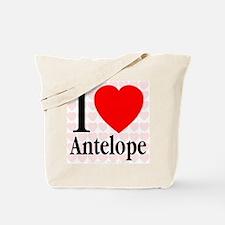 I Love Antelope Tote Bag