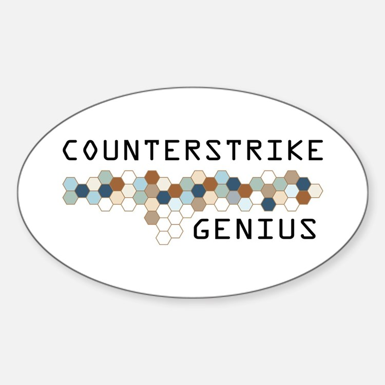 CounterStrike Genius Oval Decal