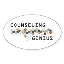 Counseling Genius Oval Decal
