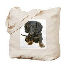 Black brindle Dachshund doxie Tote Bag