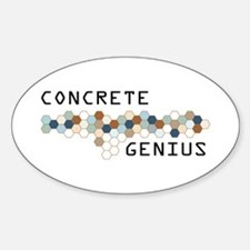 Concrete Genius Oval Decal