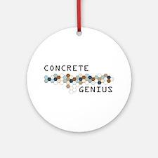 Concrete Genius Ornament (Round)