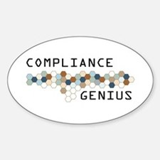 Compliance Genius Oval Decal