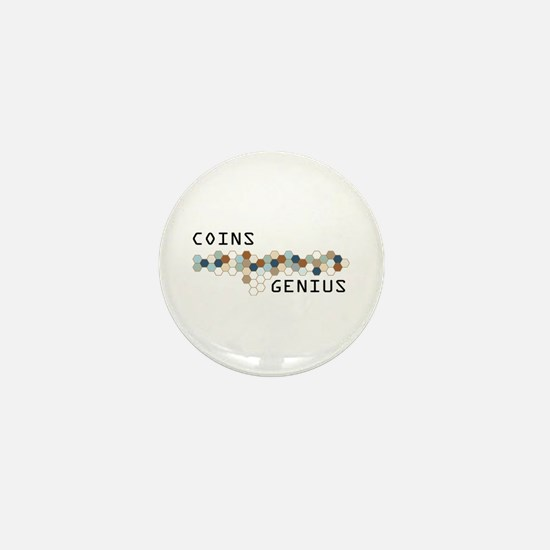 Coins Genius Mini Button