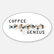 Coffee Genius Oval Decal
