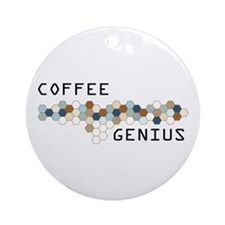 Coffee Genius Ornament (Round)
