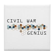 Civil War Genius Tile Coaster