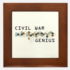 Civil War Genius Framed Tile