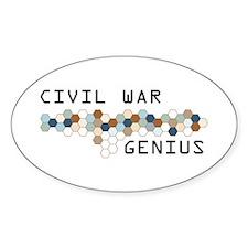 Civil War Genius Oval Decal