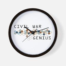 Civil War Genius Wall Clock