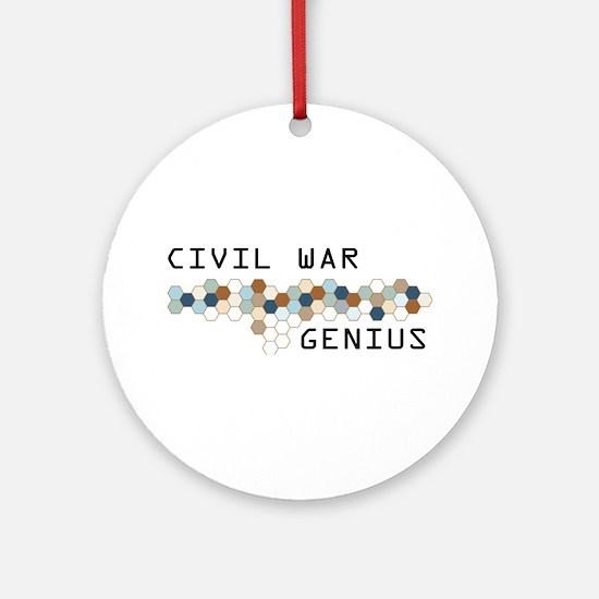 Civil War Genius Ornament (Round)