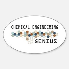 Chemical Engineering Genius Oval Decal