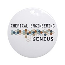 Chemical Engineering Genius Ornament (Round)