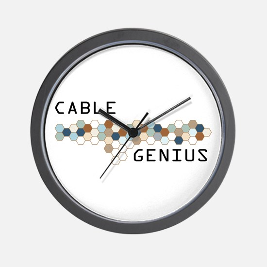 Cable Genius Wall Clock
