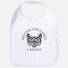 British Columbia Haida Kitty Baby Bib
