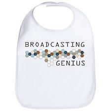 Broadcasting Genius Bib