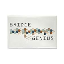 Bridge Genius Rectangle Magnet