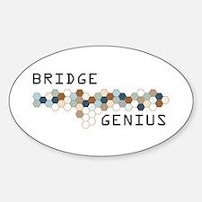 Bridge Genius Oval Decal