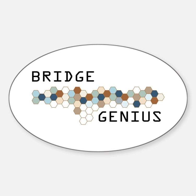 Bridge Genius Oval Decal