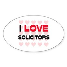 I LOVE SOLICITORS Oval Decal