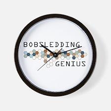 Bobsledding Genius Wall Clock