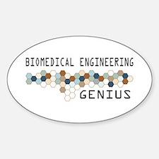 Biomedical Engineering Genius Oval Decal